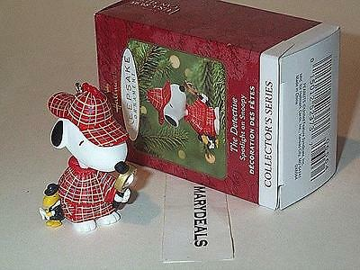 The Detective 2000 Spotlight On Snoopy Peanuts Gang Woodstock Hallmark Ornament