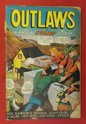 Outlaws #2 ! 1948 ! GRAHAM INGELS ! MATT BAKER ! 52 PAGES ! hayfamzone