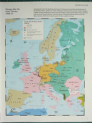 Carte Europe Seconde Guerre Mondiale.Ww2 Seconde Guerre Mondiale Carte Europe Apres Paix Treaties 1920 21 Ligue