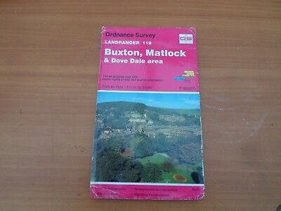 os map sheet 119. Buxton, Matlock and dovedale scale 1:50,000  vintage 1995