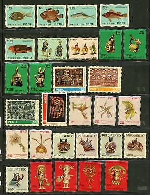 PERU--Lot of 36 stamps full and short sets