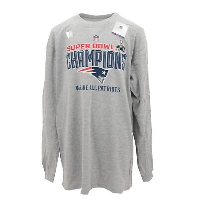 2014 Super Bowl XLIX 49 New England Patriots NFL Youth Size Long Sleeve Shirt