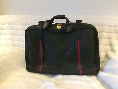 Genuine Vintage Gucci Luggage Soft Travel Suitcase With Premium Leather