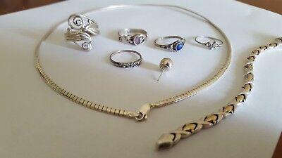 Bulk lot sterling silver jewellery 925