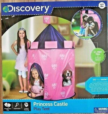 Discovery Kids Indoor / Outdoor Pink Girls Princess Play Castle Tent with case
