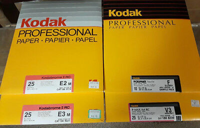 All Sealed Packages 85 Sheets Total Of Kodak 8X10 Rc Papers 3-25 Packs 1-10 Pack