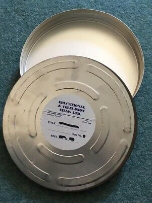 35mm Metal movie film can container 1000ft Vintage Archive Used - FREE P+P