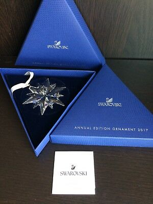 Genuine SWAROVSKI 2017 Annual Edition Snowflake Crystal Ornament NEW Authentic
