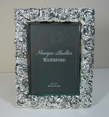 Monique Lhuillier Waterford Sunday Rose Photo Picture Frame 5 X 7