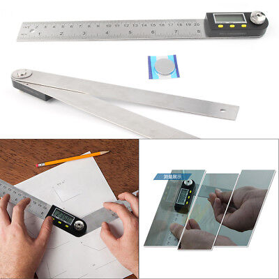 "0-200MM 11"" Electronic Digital Protractor Goniometer Angle Finder Miter Gauge L"