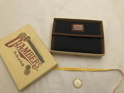 Portafoglio Vintage Chambers Honda 1990. Wallet Very Rare Leather And Fabric.