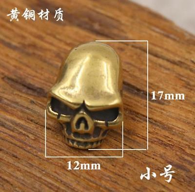 Pure copper Skull money cloth buckle brass leather decorative buckle