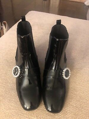 b9588bba917c Forever 21 Womens Shoes . Black Patton With Rimestone Button. Size 8. NEVER  WORN