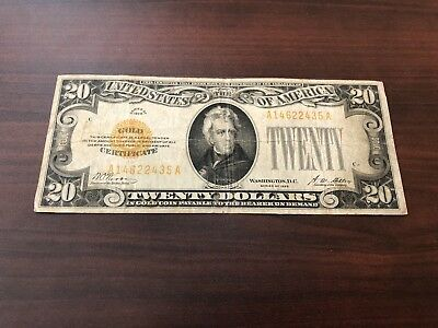 1928 $20 Gold Certificate Bill Note - Fr 2402