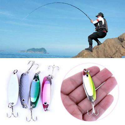 4Pcs/Set Hard Metal Fishing Lures Small Spinner Baits Crank Bait Tackle Hooks
