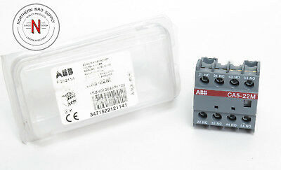 Abb Ca5-22M Auxiliary Contact Block, (2)Nc (2)No