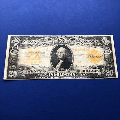 Series 1922 Large Size $20 Gold Certificate Fine+ VF FR #1187 No Reserve