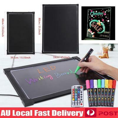 Erasable LED Light Drawing Message Advertising Sign Writing Board & Highlighter