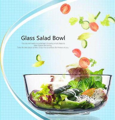 6pcs Glass Large Serving Bowl Salad Bowl Mixing Bowl Transparent AU