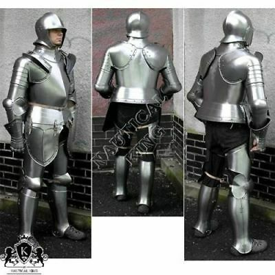 Vintage Antique Medieval Knight Full Body Armour Suit of Gothic Stand Steel Gift
