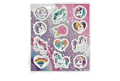 Unicorn Stickers for Kids Birthday Party Bag Fillers 10x11.5cm