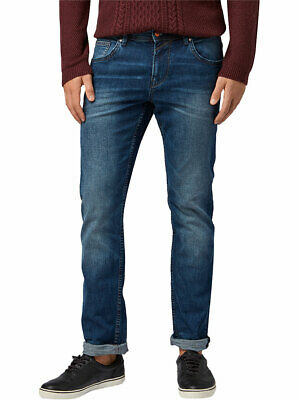 Tom Tailor Denim Herren Jeans Aedan - Slim Fit - Blau - Mid Stone Wash