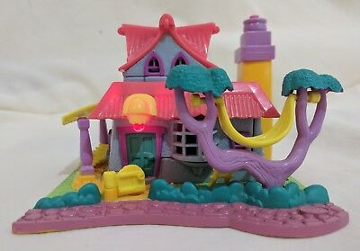 Vintage Polly Pocket *COMPLETE & FUNCTIONAL* 1994 Light-Up Kitty House