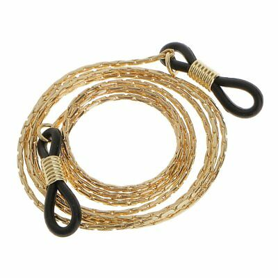 Eyeglasses Chain Reading Glasses Eyewear Spectacles Chain Neck Cord Light Gold
