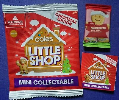 COLES LITTLE SHOP Mini COLLECTABLE CHRISTMAS EDIT.GINGERBREAD FREE POSTAGE