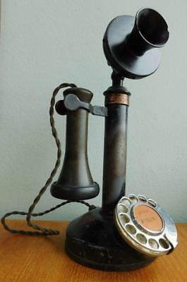 Classic 1900s Candlestick Magneto Table Telephone Commonwealth PMG 36MT