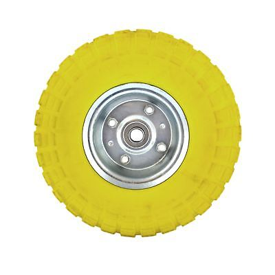 "10"" Solid Rubber Tyre Wheel Foam Filled Sack Truck Trolley Cart AN002"