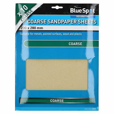 10pc Assorted Sandpaper Sanding Sheets For Metal Wood Plastic Coarse 60 Grit