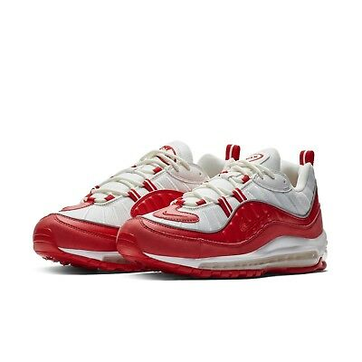 Nike Mens Air Max 98 University Red White 2019 Sneakers Running Shoes  640744-602 8541a18c2