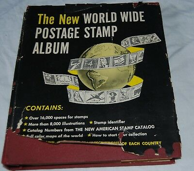 The New World Wide Postage Stamp Album 1958 1/4 Full Germany USA Britain Ireland