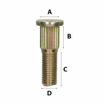 """7/16"""" UNF Replacement Wheel Studs for Trailer Suspension Hubs Hub Pack of 5"""