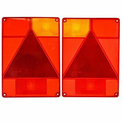Trailer Light Lens PAIR Radex Replacement for Ifor Williams Indespension TR196