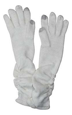Inc International Concepts Ruched Long Gloves in Ivory