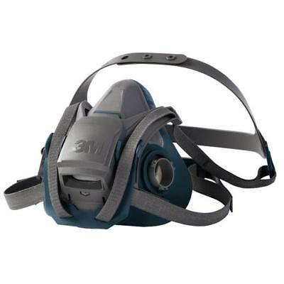 3M Reusable Half Mask Four Point Adjustment Head Harness Medium Grey Ref 6502QL