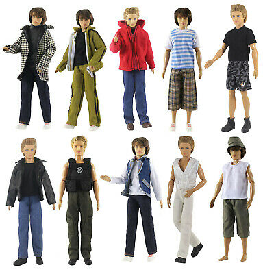 10 Sets Different Styles Fashion Outfits/Clothes For 12 inch Ken Doll