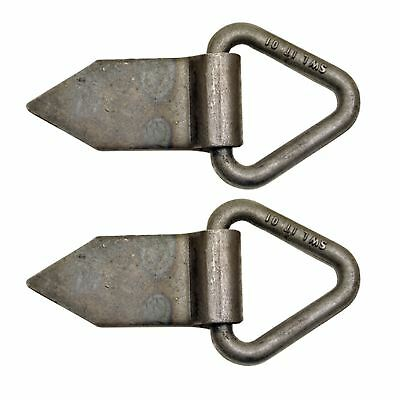 Fold Over Tie Down Lashing Eye / Anchor Point HEAVY DUTY Self Colour PAIR
