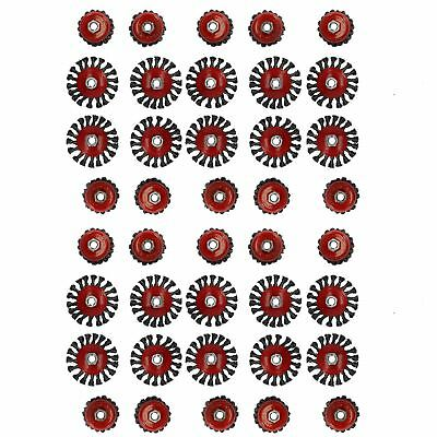 """40pc Cup Bevel Wire Twist Brush Rust Paint Removal For 4-1/2"""" 115mm Grinders"""