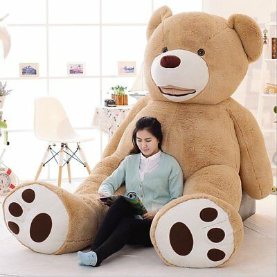 "UK 78"" 200cm/2M Light Brown Giant Skin Teddy Bear Big Stuffed Toy(Only cover)"
