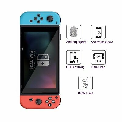 2/4/6/8/10x HD PET Film Screen Protector Front Guard for Nintendo Switch Console