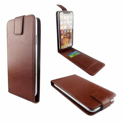 PU Leather Brown Mobile Phone Flip Case Cover For NOKIA 7.1 - L