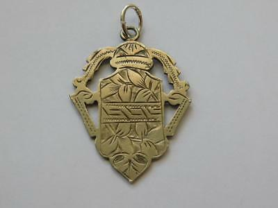 Vintage Nickel Silver Watch Fob