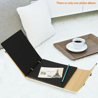 10inch Hollow Out Album DIY Scrapbook Memory Book Love Heart Photo Black Pages