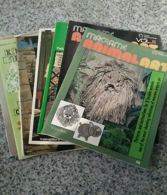 Vintage Macrame Instruction Booklets Set Of 8
