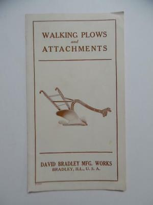 c.1920s David Bradley Mfg Works Walking Plows and Attachments Brochure Vintage