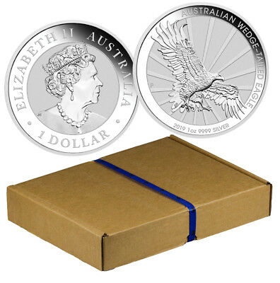 Monster Box of 100 2019 P Australia 1oz Silver Wedge-Tailed Eagle $1 BU SKU56948