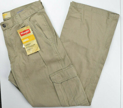 b7d8935c32 WRANGLER MENS CARGO Pants Khaki / Beige Brand New With Tags ...